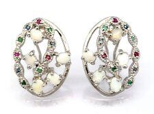 Opal Smaragd Rubin Saphir Ohrringe   925 Silber  STERLINGSILBER