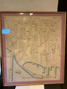 Scarce 1894 Map 3 Kingston Harbour Jamaica Insurance Map Chas E Goad