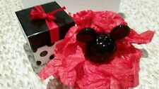 Disney Mickey Mouse Black Ceramic Toothbrush Holder With Box Disneyland