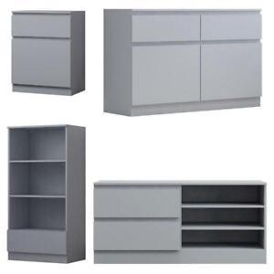 Living Room Furniture Modern Sideboard TV Unit Storage Bookcase Matt Grey