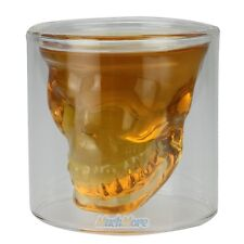 New Crystal Skull Head Vodka Whiskey Shot Glass Cup Drinking Ware for Home Bar