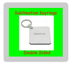 25 x MDF Blank Sublimation Double Sided Square Keyrings 5cm x 5cm