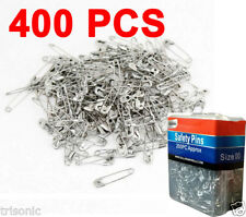 400 Pcs Nickel Plated Steel Sewing Crafting Beading Jewelry Safety Pins Size 00