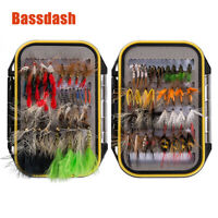 eBassdash Assortment of Trout Flies for Fly Fishing Wet Dry Nymph 72 Pcs/set New