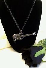 ALCHEMY NECKLACE - SHRED ATTACK - HEAVY METAL ROCK ELECTRIC GUITAR PENDANT