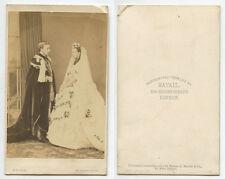 KING EDWARD VII & ALEXANDRA WEDDING CDV. MAYALL LONDON