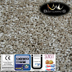 Hardwearing Soft Carpets SERENITY beige Large Size Stairs Thick Shag Pile12mm