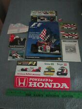 Monaco Grand Prix Program 1994  / Ayrton Senna / Senna Pin & Factory Stickers