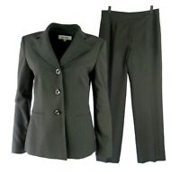 Suit Studio Womens Pant Suit Size 8 Brown Three Button Lined 2 Pc Business