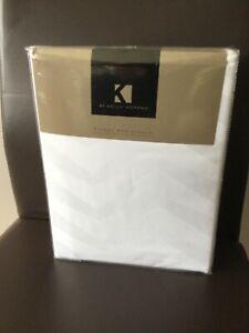 Kelly Hoppen 100% Cotton 5 Piece Chevron Duvet Set White Kingsize