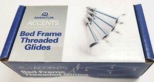 "Mantua Accents Bed Frame Adjustable Threaded Glides w/ Nylon Base 4.5"" Feet x 4"