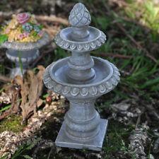 Mini Fairy Garden Stone Water Fountain Decor Pixie Elf Accessory Ornament 39613