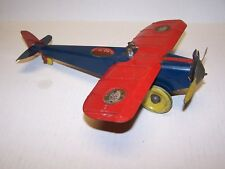 1920's Girard Tin Wind Up High Wing Airplane Monoplane 13