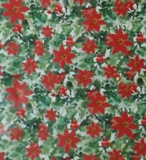 POINSETTIAS DESIGN CHRISTMAS HOLIDAY WRAPPING PAPER》20 SQ. FT 🎄 🎁 🎅