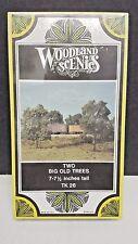 """2 Big Old Trees 7-1/2""""  tall kit Woodland Scenics TK26"""