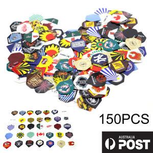 150PCS Bulk Pack of 30 Extra Strong Standard Shape Dart Flights Mixed Colours OZ