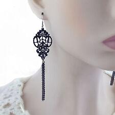 Gothic Long Drop Earring Women Accessories Lolita Lace Dangle Earrings For Women