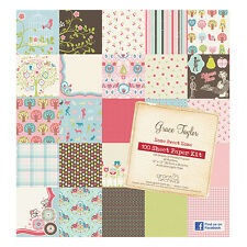 "Grace Taylor Home Sweet Home 100 Sheets 12"" x12"" Bumper Paper Kit * FREE POST *"