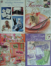 Wedding & Party Book Lot how-to invitations, party favors, paper crafts, holiday