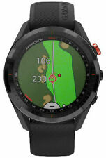 Garmin Approach S62 Running Watch - Black Ceramic Bezel with Black Silicone Band