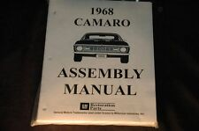 1968 CAMARO  ASSEMBLY MANUAL 100'S OF PAGES OF PICTURES, PART NUMBERS & DETAILS