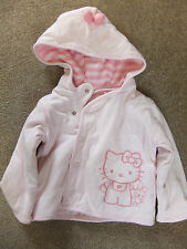 Cute little Hello Kitty cotton jersey style hooded jacket.0-3mth.new.