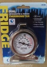 REFRIGERATOR FREEZER THERMOMETER -20 to 70  Round Hanging Clip Cooler Walk-in