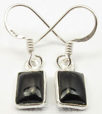 Online Buy Small Earrings 2.7 Cm 925 Solid Silver Authentic Cabochon Black Onyx
