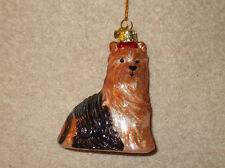 Kurt S Adler Glass Yorkshire Terrier Christmas Ornament - Nib