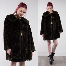 Plus Size Faux Fur Popper Coats & Jackets for Women