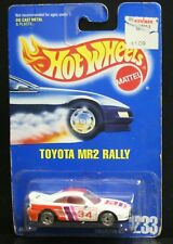 NEW HOT WHEELS TOYOTA MR2 RALLY 233 ALL BLUE CARD WHITE 34