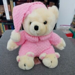 Dan Dee Collectors Choice Teddy Bear Pink Pajamas Hat Adorable Bear