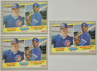 1989 FLEER BASEBALL Joe Girardi 3x Rookie Card Lot NM #644 Cubs Yankees Phillies