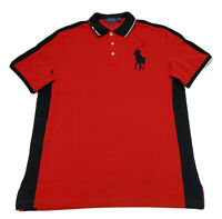 POLO Ralph Lauren BIG PONY Men's Mesh Polo Shirt New CLASSIC FIT Red Blue XL
