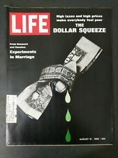 Life Magazine - August 15, 1969 - The Dollar Squeeze - Experiments in Marriage