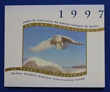 Canada (QU10Ais) 1997 Quebec Wildlife Habitat Conservation Stamp (MNH) WWF-SBA