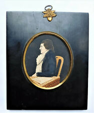 NO RESERVE 1816 Adam Donaldson Portrait Miniature of a Gent Vintage Antique
