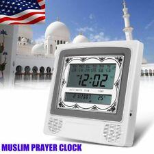 US Automatic Islamic Azan Muslim Prayer Alarm Wall Table Home Clock Adhan