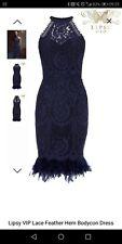 Lipsy body con feather dress