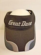 Great Dane Black & Gray Padded Adjustable Visor Hat Cap