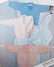 Baby/Girl/Boy/ Vintage Knitting Pattern Jumper/Sweater Cardigan 40-50 cms S7632