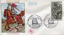 FRANCE FDC - 629 1538 1 PHILIPPE AUGUSTE - 10 Novembre 1967