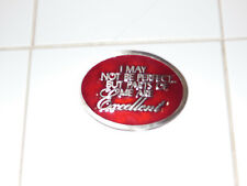 VINTAGE 1970s **I MAY NOT BE PERFECT....BUT** BELT BUCKLE/ NOS