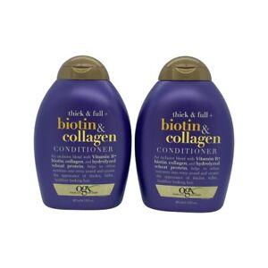 OGX Thick & Full + Biotin & Collagen Conditioner 13 Oz (Pack of 2)