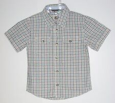 babyGAP Boys Size 5 Years Multi-Color Checks Button Up Short Sleeve Shirt