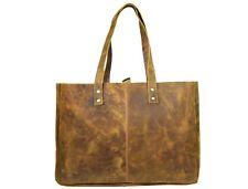 Large Vintage Leather Tote Bag Women Purse Shoulder Bags Travel Handbag
