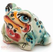 Porcelain Gzhel Frog Toad Figurine Souvenir handmade