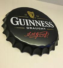 Signo de pared de metal Guinness Retro Estaño Placa Home Bar Cueva de hombre de acero