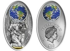 Rare Fiji 2012 Large antiqued Silver$10-Apocalypse,ATLAS Maya Cal.  mintage 1000
