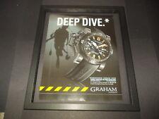 Graham Chronofighter diver watch-2008 original advert framed